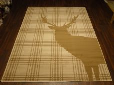 Rugs Approx 8x5 160x230cm Woven Backed stag Rugs Great Quality Beige/cream Check